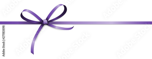 purple colored ribbon bow