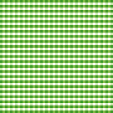 Gingham Check Seamless Pattern In Green And White, EPS8 File Includes Pattern Swatch That Will Seamlessly Fill Any Shape, For Arts, Crafts, Fabrics, Tablecloths, Decorating, Scrapbooks.