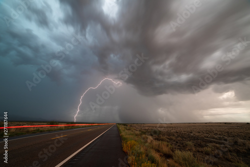 storm over road