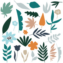 Tropical Jungle Leaves  Seamless Pattern, Vector Design For Wrapping Paper, Textile, Background Fill Design.