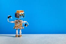 Mechanical Robot Cheerful Face...