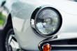 white Retro Car headlight, Detail,