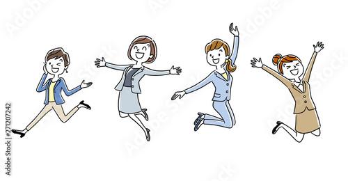 Canvastavla 働く女性たち:ジャンプ