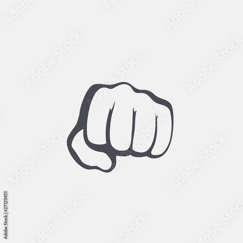 Fist male hand, proletarian protest symbol. Power sign Canvas-taulu