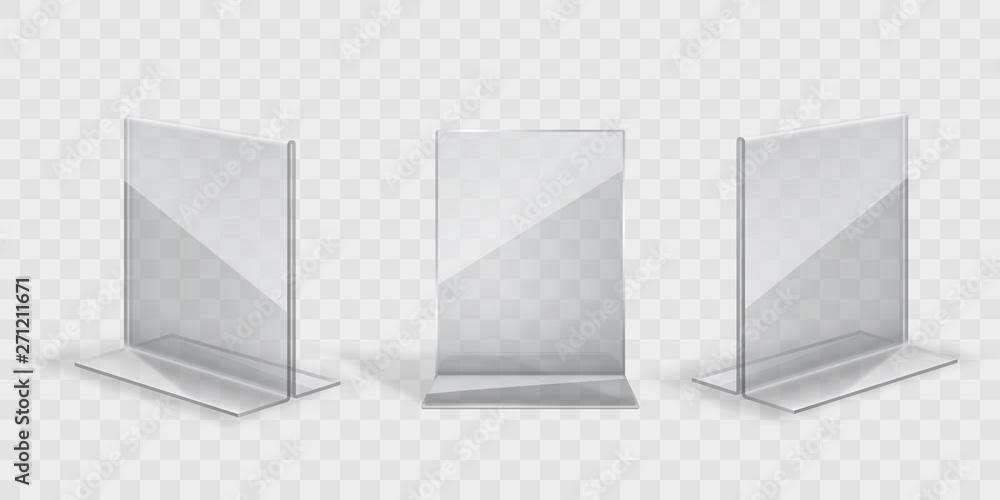 Fototapeta transparent acril display stand set
