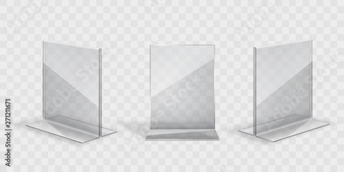 Photo transparent acril display stand set