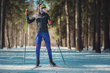 Cross-country Skiing Woman Doi...