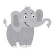 Vector cute African animal. Elephant.
