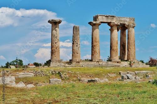 Obraz na plátne Apollotempel, Korinth, Griechenland