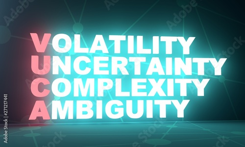 Acronym VUCA - volatility uncertainty complexity ambiguity Canvas Print