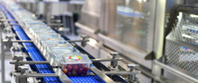 Food Products Boxs Transfer On Automated Conveyor Systems Industrial Automation For Package