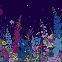 Lovely Garden. Border. Summer ...
