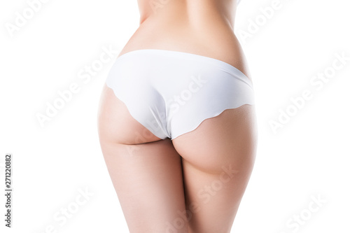 Stampa su Tela Perfect female buttocks isolated on white background