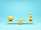 Fototapeta Przestrzenne - Balancing ball