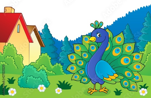 Wall Murals For Kids Peacock theme image 4
