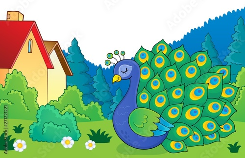 Wall Murals For Kids Peacock theme image 5