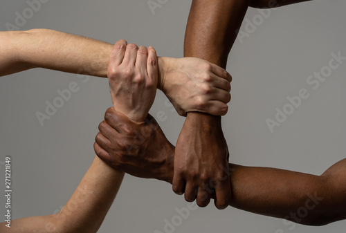 Fotografia Stop racism, conceptual image against intolerance and discrimination