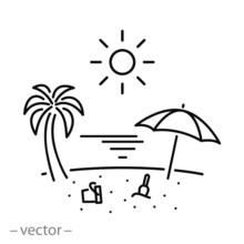 Beach Icon, Summer Holidays Li...