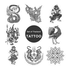 Set Of Thailand Tattoo