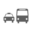 Taxi and bus icons symbols