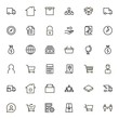 Real estate line icon set.