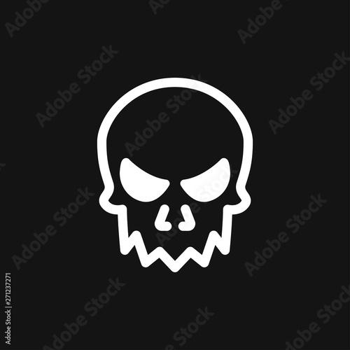 Fotografie, Tablou  Skull icon vector sign symbol for design