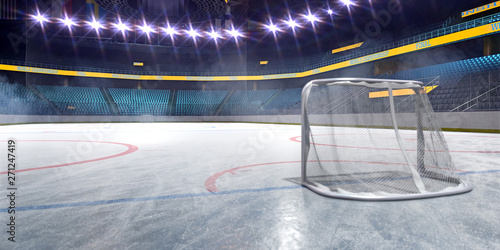 Hockey ice rink sport arena empty field Canvas Print