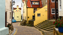 Staithes, North Yorkshire, UK ...