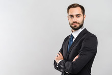 Attractive Young Businessman Wearing Suit