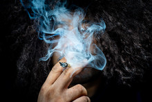 Marijuana Joint In The Hand, Concepts Of Medical Marijuana Use And Legalization Of The Cannabis.