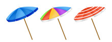 Umbrellas Isolated Vector. Col...