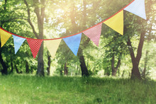Colorful Bunting Flags Hanging...
