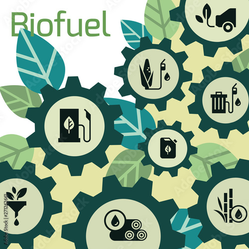 Photo Vector template on the theme of biofuels, environmentally friendly fuel, natural