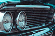 Classic round chrome headlights and grill