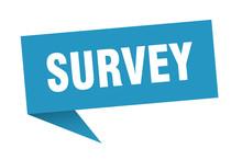 Survey 3d Speech Bubble Sign