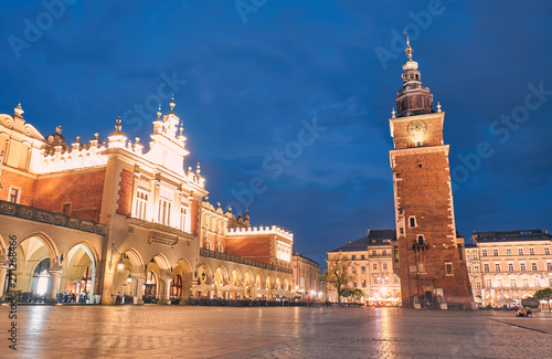 Fototapeta Town Hall Tower. Krakow, Poland. obraz