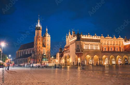 Fototapeta St. Mary's Basilica. Krakow, Poland. obraz