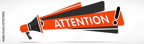 Photo mégaphone : Attention