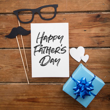 Father's Day Card With Blue Wr...