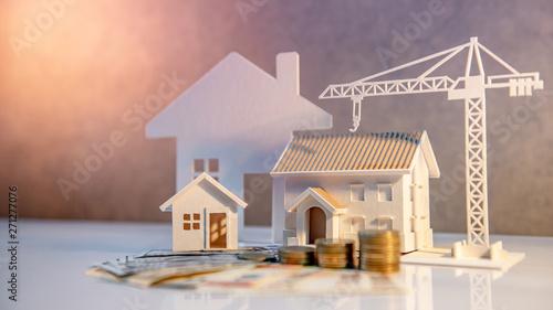 Real estate or property development Canvas Print
