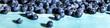 canvas print picture - Panorama, frische Blaubeeren oder Heidelbeeren auf Holz blau