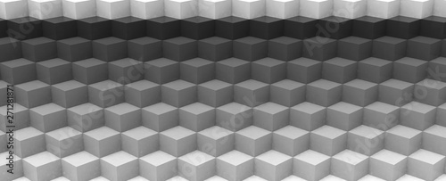 Render de estudio con cubos en 3d Fototapet