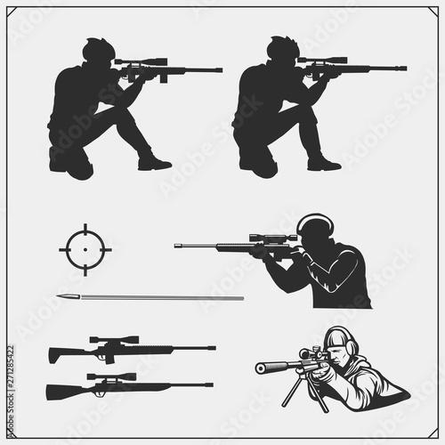 Obraz na plátně Sniper emblems for sport team