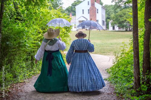 Obraz na plátně American Civil War Battle Reenactment