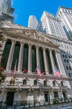 Stock Exchange In New York, United States.
