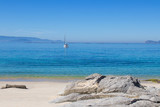 landscape of the beach with sea and sand, galicia - 271299614