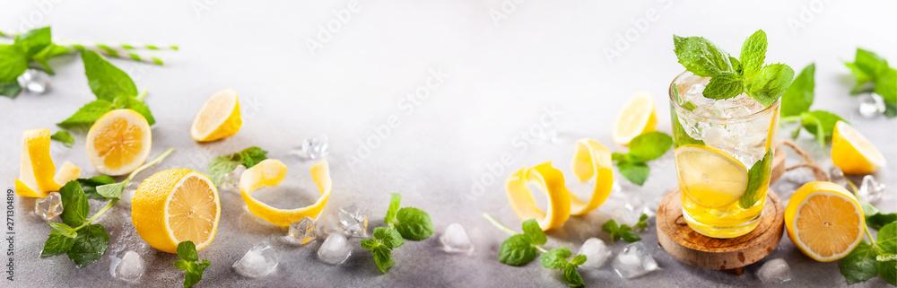 Fototapety, obrazy: Homemade refreshing summer lemonade