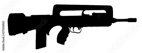 Fusil d'assaut automatique, semi-automatique Canvas Print