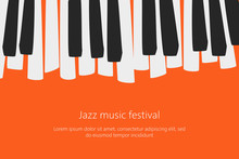 Music Festival Poster Template With Piano Keys.