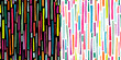 Abstract decorative seamless patterns set with colorful elements